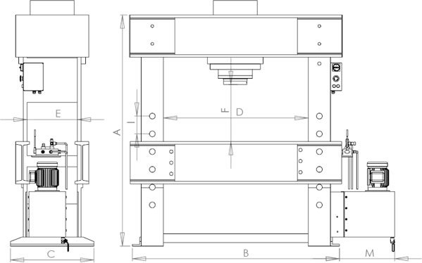 Workshop Press, Hydraulic Press, Press Brake, Shipbuilding